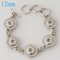 Fits Ginger Snap MINI GINGER SNAPS BRACELET Jewelry Button 12mm Petite Charm