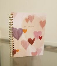 "Fringe Studio ""NOTEBOOK"" Pink Colored Hearts & Gold"