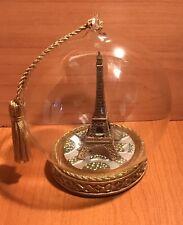 Paris Memory Globe Eiffel Tower Xmas Ornament France Travel Souvenir
