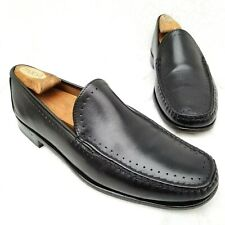 Allen Edmonds GRANBY Loafers Black Leather Moc Toe Slip-on Dress Shoes Sz 8.5 D