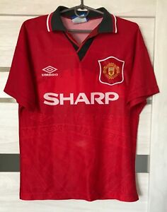 MANCHESTER UNITED 1994/1995 HOME FOOTBALL JERSEY SHIRT VINTAGE UMBRO SIZE Youth