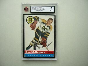 1954/55 TOPPS NHL HOCKEY CARD #35 DON MCKENNEY ROOKIE KSA 5 EX SHARP!! 54/55