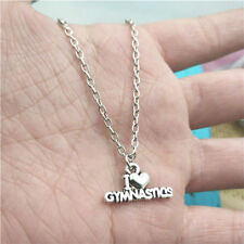 Gymnastics silver necklace pendants fashion accessory,creative jewelry,Gifts