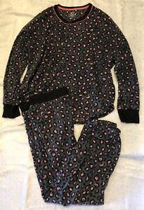 NWT Cuddl Duds Women's Long Sleeve PJ Pajama Set Sleepwear Animal Print Size XL