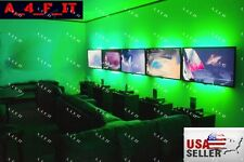 RGB LED Home Theater Accent Lighting Kit - Color-changing LED Light Strip Kit.