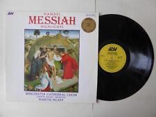 Handel Messiah Highlights Winchester Choir Martin Neary Vinyl LP DMM Germany