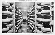 Monroe Wisconsin Cheese Storage Interior Antique Postcard K39766