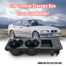 New Center Console Coin Tray Box+Cup Holder For BMW E46 3 Series 98-2004 Black