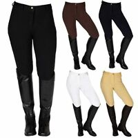 Best on Horse Womens Ladies Jumping Dressage Knee Patch Cotton Riding Breeches