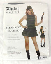 Halloween Cosplay Costume Womens S Cute Sexy Steampunk Military Soldier Dress