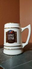 Vtg Lone Star Beer Stein Gold Trim RARE Starcrestware Ceramic Mug 6""