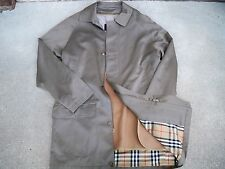 Vintage Burberry London Trench Men's Camel Hair & Wool Jacket Coat Size 42 L