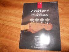 FENDER  Guitars & Basses  1995 catalog