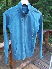 Life is Good Vibes Women's Ladies M Blue Gray Floral Zip Up Sweatshirt Jacket