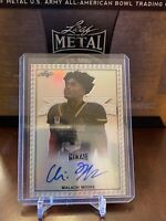 Malachi Moore 2020 Leaf All American Metal Silver Etch 13/50 Auto Alabama