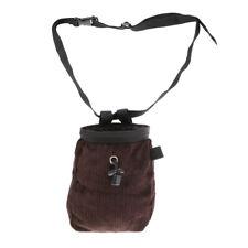 Rock Climbing Chalk Bag Pouch with Waist Belt & Drawstring Closure - Coffee