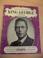 OLD VINTAGE BOOK BIOGRAPHY royalty royal KING GEORGE VI DAILY GRAPHIC PITKIN