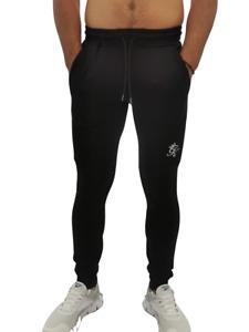 Gym King Hommes Coeur Grande Bas Athlétique Décontracté Mode Slim Fit Noir