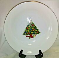 """Sea Gull Fine China By Jian Shiang Oval 14"""" Serving Bowl """"Christmas Collection"""""""