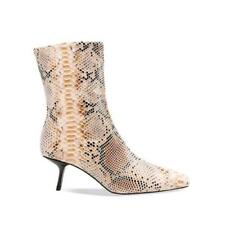 Women Snakeskin Print Europe Style Pointy Toe Ankle Boots Clubwear Sexy 44/48 L
