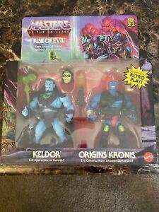 Masters Of The Universe Origins MOTU Keldor Kronis Rise Of Evil 2 Pack IN HAND