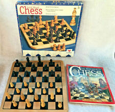 1997 Cardinal Solid Wood Chess Game & The Kids Book of Chess Bundle - VGC