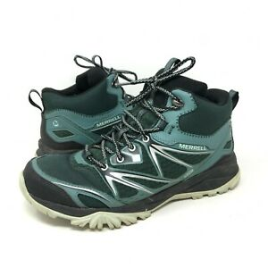 Merrell Pine Grove Hiking Boots Green High Tops Lace Up Womens Sz 10 Model 0316