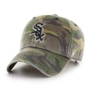 Chicago White Sox '47 Clean Up Woodland Camo Adjustable On Field Cotton Hat