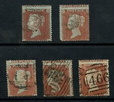 PENNY RED SCp16...ONE PENNY ABOVE POSTAGE...5 stamps