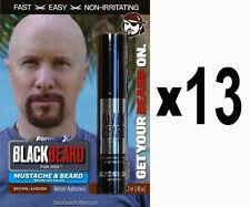 Blackbeard Mens Temporary Hair Colour Dye Mascara Beard Moustache BROWN AUBURN