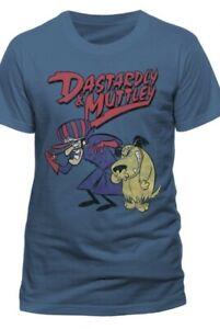 Wacky Races - DICK DASTARDLY & MUTLEY laughing T-shirt Size MEDIUM hanna Barbera