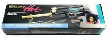"BELSON GOLD 'N HOT 3/8"" PROFESSIONAL MARCEL-GRIP CURLING IRON-24K GOLD PLATED"