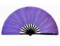 "13""Chinese Kung Fu Tai Chi Wushu martial art Performing magic dance Purple Fan"