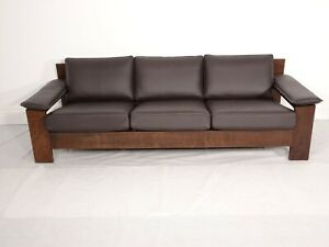 Immaculate Vintage Leolux 3 seater sofa by Harry De Groot in Chocolate leather