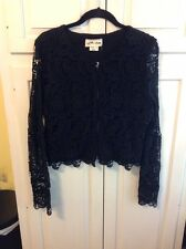 Anthropologie ,Lili's Closet ,Zip Front Lace Black Cardigan/Jacket , Med