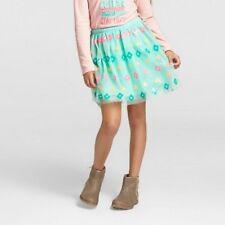 Girls' Cat & Jack Tutu Skirt Mint Turquoise with Neon Diamond Shape Sequins, XL