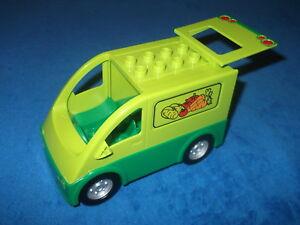Lego Duplo Auto Fahrzeug Markt Gemüse Transporter Lieferwagen Marktstand 5683