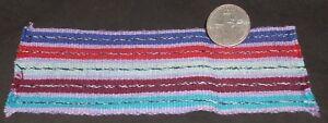 Miniature Lilac Backstrap Guatemala Blanket Rug Carpet 2.75 X 6 Southwest 9568