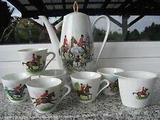 Service à café  Porcelaine Décor CAVALIERS