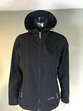 Eddie Bauer Rain Jacket Women's S Black Water Proof Windbreaker