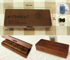 Best Gift Wooden Rubber Stamps Alphabet Letter Number Wood Set Box MO