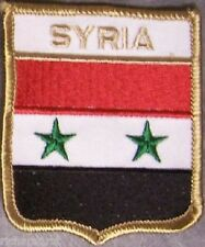 Embroidered International Patch National Flag of Syria NEW bunting