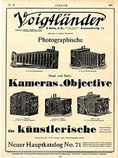 Ganzseitige Werbung Voigtländer & Sohn Braunschweig Kameras u. Objective Ad 1907