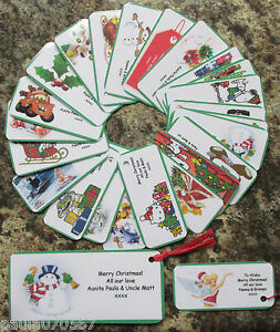 PERSONALISED Children's and Adults Christmas gift tags Keep sake SPECIEL TIME!