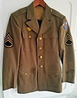 Vintage WW2 Size 36R US Army Jacket With Patches WWII