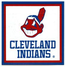 Chief WAHOO Vintage Sticker Cleveland Indians Nickles Bread 4x4 Sticker