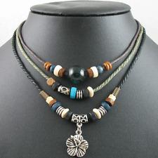 Fashion Jewelry Adjustable Surfer Tribal Hemp Necklace Choker Mens Womens Flower