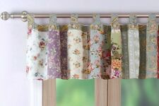 BLOOMING PRAIRIE VALANCE : COUNTRY COTTAGE LILAC ROSE COTTON FLORAL WINDOW