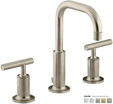K-14406-4-BV_Kohler Purist Widespread Sink Faucet w/Drain NIB in Brushed Bronze
