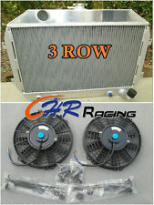 For Nissan Datsun 240Z/260Z L24/L26 AT/MT MANUAL Aluminum Radiator & FANS
